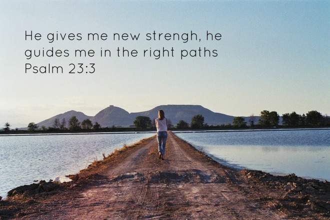 He gives me new strength