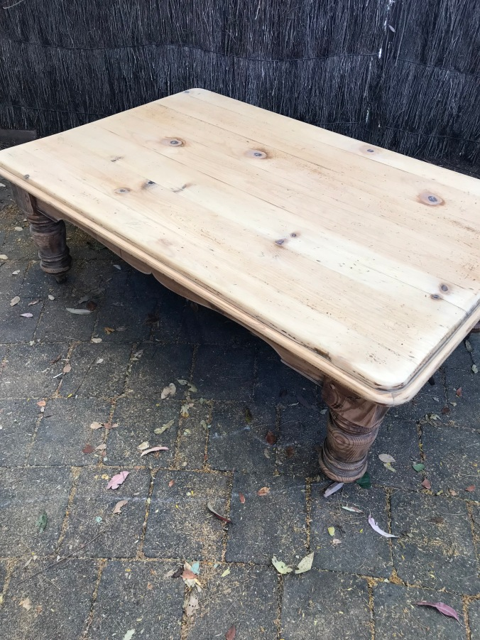 Coffee Table Sanded