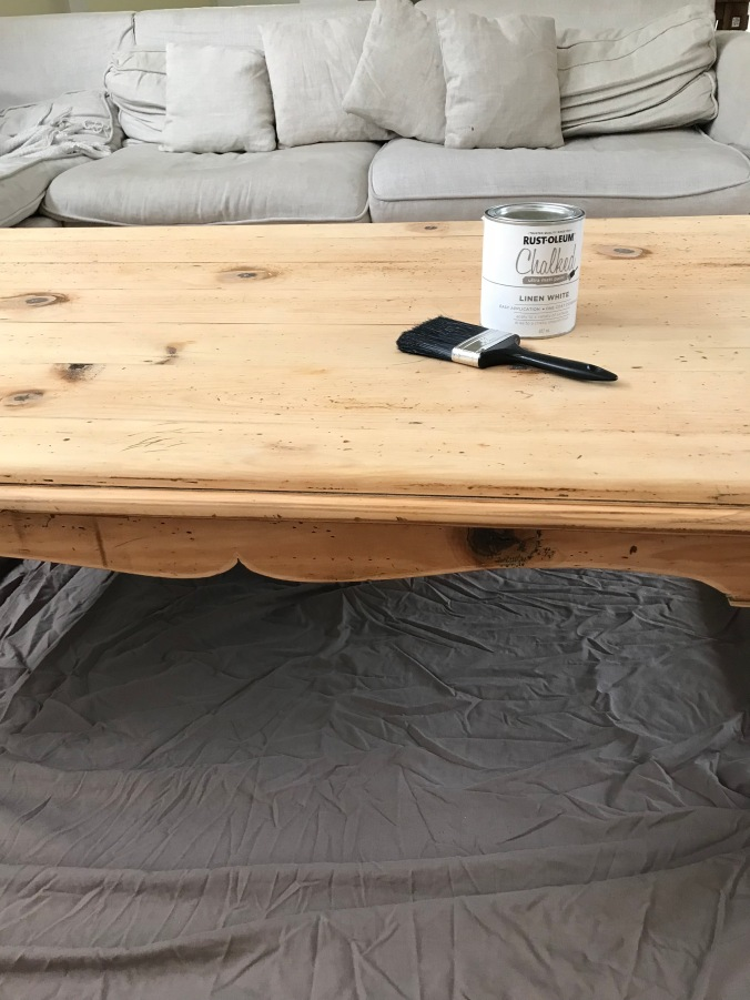 Coffee Table White Paint