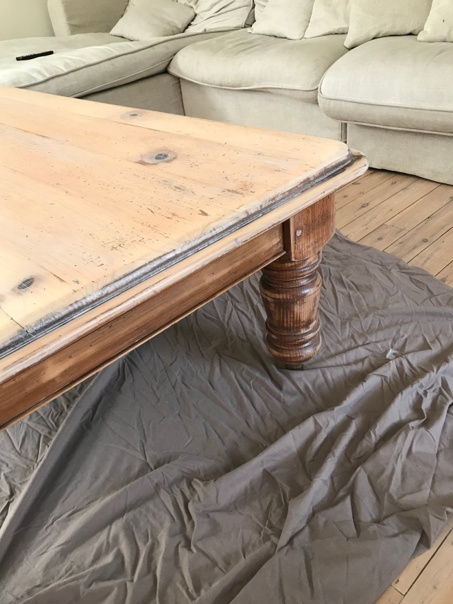 Coffee Table Legs One Coat Limewash