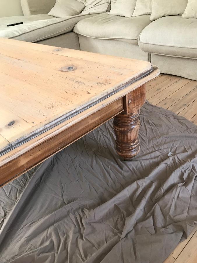 Coffee Table Legs One Coat Limewash