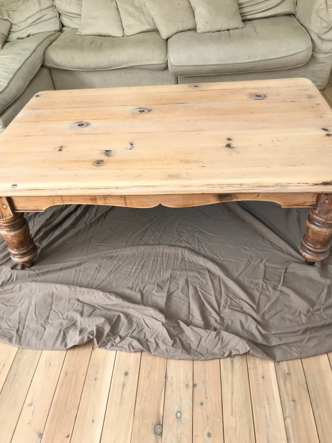 Coffee Table One Coat Limewash