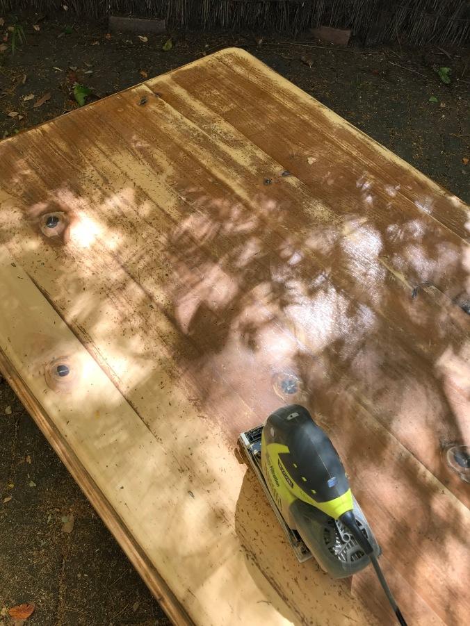 Sanding Coffee Table