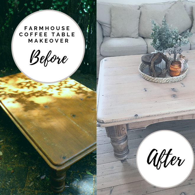 Coffee Table Before and After